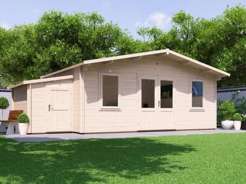 PremiumPlus Vanguard Log Cabin with Sidestore