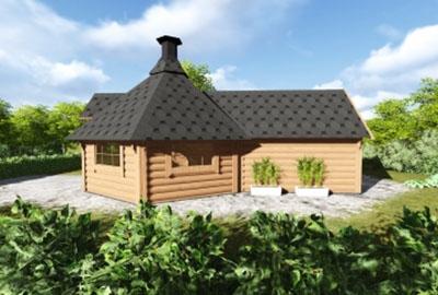 Double BBQ Hut With Sauna