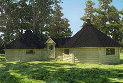 Viking double BBQ hut