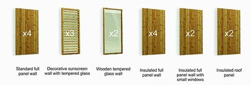 Sauna wall styles